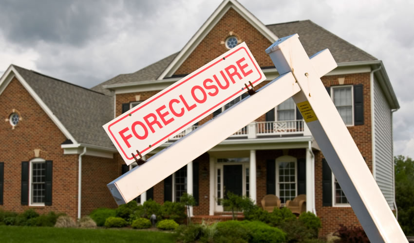 Foreclosed house after adverse effects
